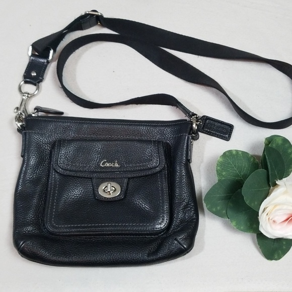 Coach Handbags - Coach Black Leather Crossbody Bag